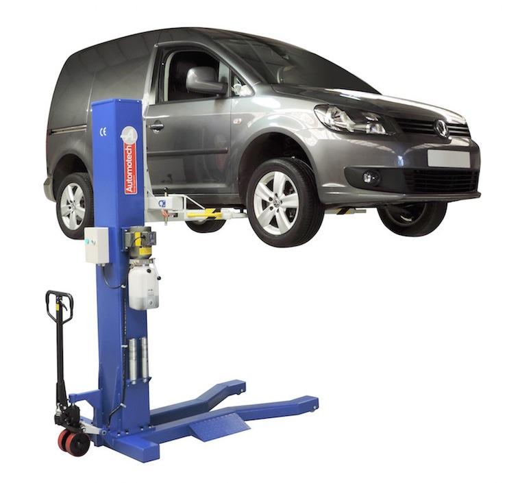 Home Garage Car Lift >> AS-7521 Mobile Single Post Vehicle lift - Automotech ...