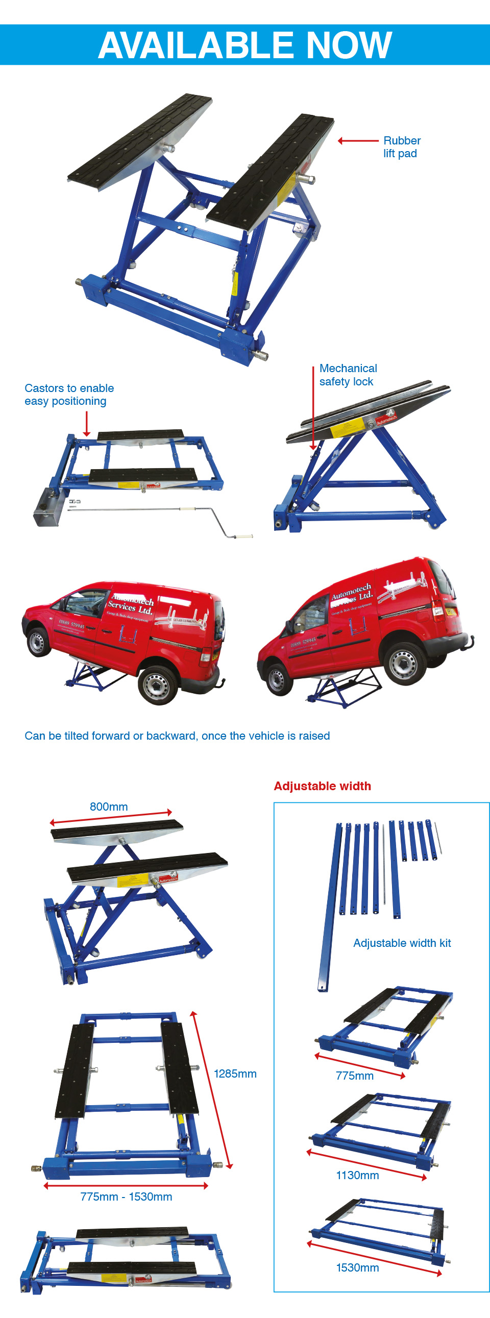 Mobile scissor lift  tilting car lift ramp