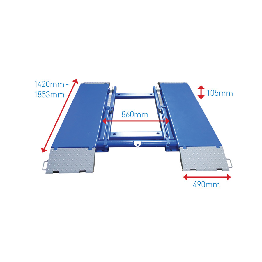 Hydraulic driveon car ramps car rollers mobile axle