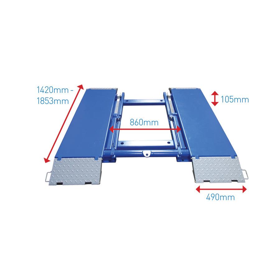 AS-7530D Garage Scissor Lift - Automotech Services Limited
