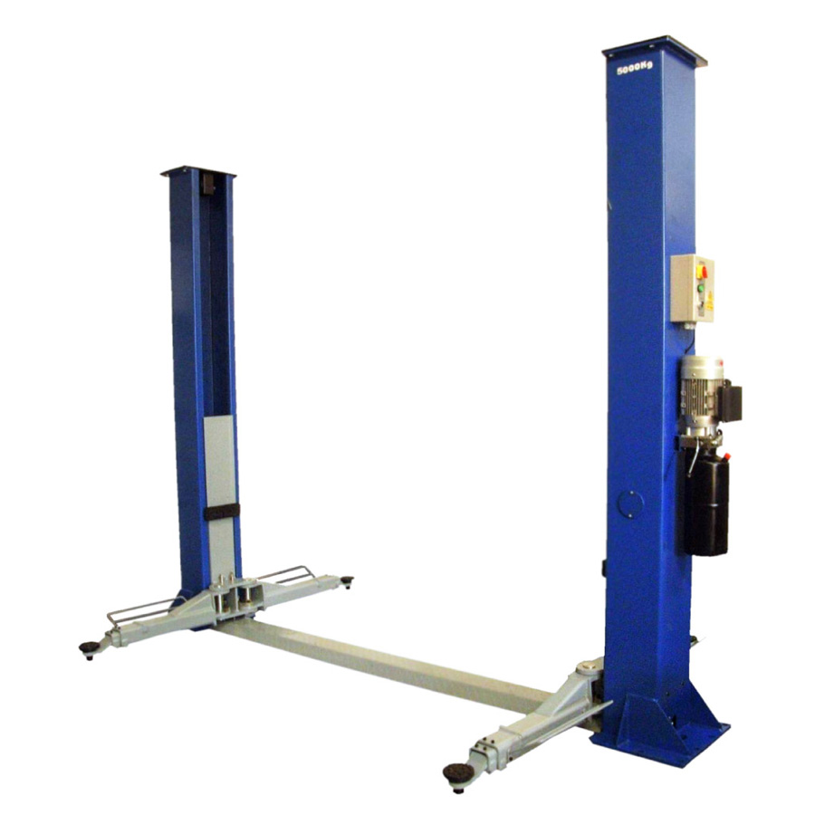 AS-6150A Twin Hydraulic Ram, 2 Post Lift - Automotech Services Limited