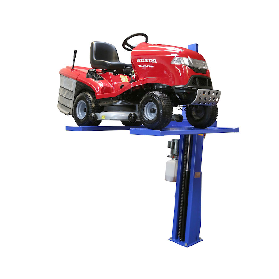 AS-7261 Single post Lawnmower / Quad Bike / Motorcycle Storage Lift  -  Automotech Services Limited