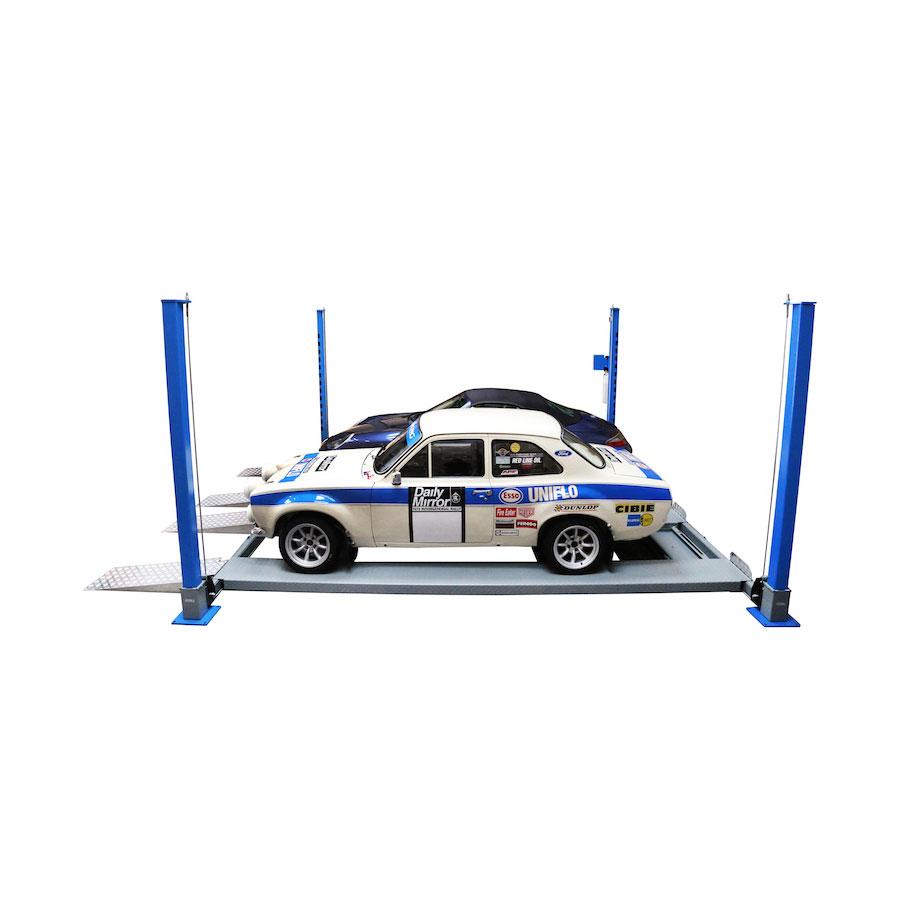 AS-4T36D Mobile 4 Post Double Parking Lift - Automotech Services Limited